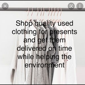 Buy your family and friends quality used clothing and get it to them on time.